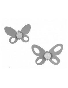 Set Ganci Butterfly (2pz) Alluminio - 0GA15044C70 - Arti e Mestieri - Appendiabiti