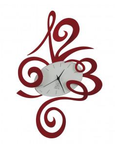 Orologio Robin Da Parete Rosso - 2033C75 - Arti e Mestieri - Orologi da parete