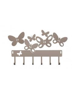 Porta Chiavi Butterfly Beige - 2398C116 - Arti e Mestieri - Appendichiavi
