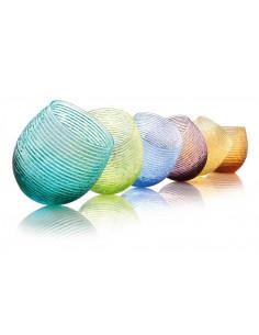 Multicolor Set 6 Bicchieri Acqua Colori Assortiti - 5652.1 - IVV - Industria Vetraria Valdarnese - Bicchier...