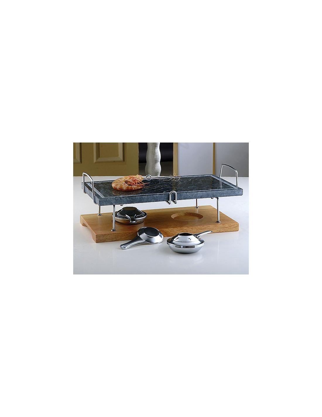 Pietra ollare con base in legno for Log e pietra piani per la casa