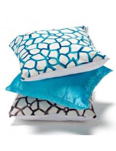 Cuscino Decoro Cielo Colore Bianco-blu Cm. 40x40 - HT1002 - Alterego Home Design - Oggettistica per Casa