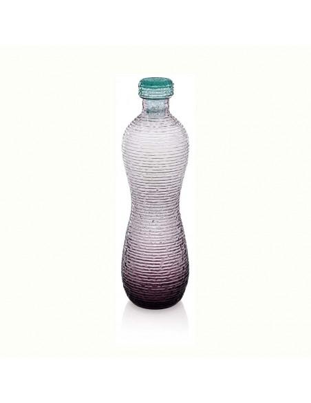 Multicolor Bottiglia H. 32.5 Lt.1,35 Ametista Tappo Turchese
