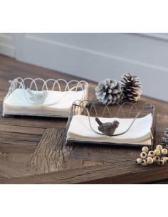 Portatovaglioli Bianco L' Oca Nera - 1XM075.10 - L' Oca Nera - Portarotolo e Portatovaglioli
