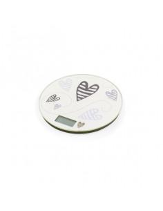 Bilancia Digitale Batticuore Avorio In Plastica Abs E Vetro - 54025 - Brandani - Bilance