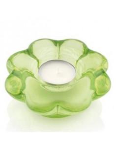 Paradise Portcandela Votivo Fiore Cm.10.5x10.5 Decoro Verde Con Lumino - 6229.2 - IVV - Industria Vetraria Valdarnese - Ca...