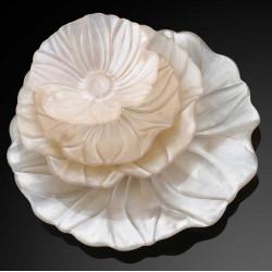 Magnolia Coppetta Cm.19 Decoro Sabbia Perlaceo - 5170.6 - IVV - Industria Vetraria Valdarnese - Svuotatasche