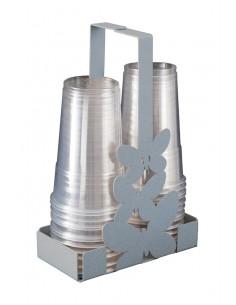 Portabicchieri Farfalle Alluminio - 0VA11273C70 - Arti e Mestieri - Portabicchieri