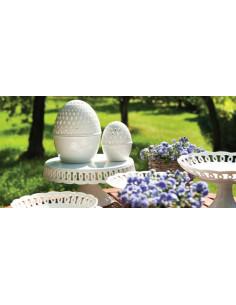 Uovo Traforato Firenze Cm.6 - P002100106 - La Porcellana Bianca - Oggettistica per Casa
