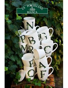 Mug Atupertu Lettera O - P00350149O - La Porcellana Bianca - Tazze Caffe, Te e Latte