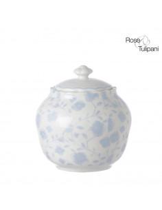 Zuccheriera Con Coperchio Mayflower Blue - R154100013 - Rose e Tulipani - Zuccheriere