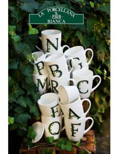 Mug Atupertu Lettera P - P00350149P - La Porcellana Bianca - Tazze Caffe, Te e Latte