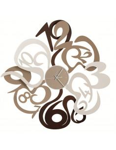 Orologio Denver Bianco Cortene Beige - 0OR2615C40 - Arti e Mestieri - Orologi da parete