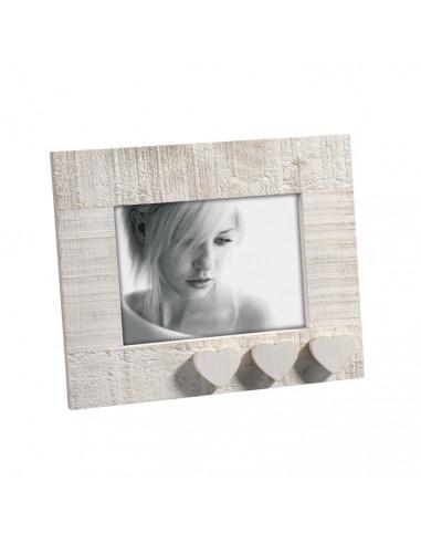 Portafoto in legno mascagni decoro tre cuori cm 13x18 - Portafoto 13x18 ...