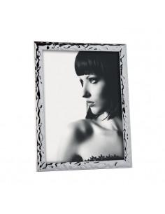 Portafoto In Metallo Lucido Mascagni Cm. 20x25 Effetto Smerlato - 2OAM924 - Mascagni - Portafoto