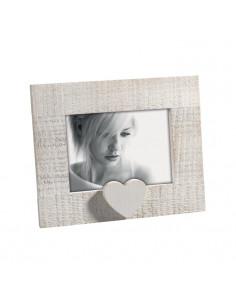 Portafoto In Legno Mascagni Decoro Cuore Cm. 13x18 - 2IQA455 - Mascagni - Portafoto