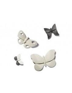 Farfalla In Gres Porcellanato Caolino Lineasette Cod P219B - P219B - Linea Sette Ceramiche - Oggettistica per Casa