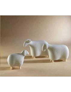 Pecora Piccola Per Presepe Natale In Gres Porcellanato Col. Caffè Lineasette - N266C - Linea Sette Ceramiche - NATALE