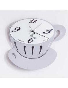 Orologio Pausa Parete Grigio Alluminio - 0OR0898C70 - Arti e Mestieri - Orologi da parete