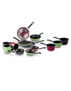 Saltapasta Wok 1 Manico Lungo Cm. 20 - 3 Colori I Piccinini - 851156120 - Barazzoni - Spaghettiere e Wok