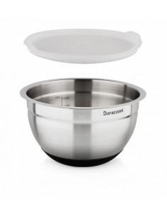Bowl Acciaio Silicone cm. 20x12.6 Con Coperchio Acciaio Inox 18/10 - 810160020 - Barazzoni - Insalatiere e Ciotole