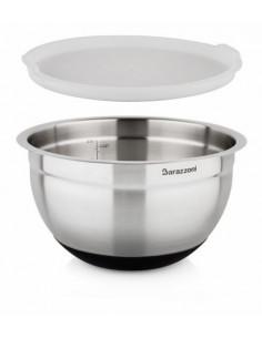 Bowl Acciaio Silicone cm. 24x14.5 Con Coperchio Acciaio Inox 18/10 - 810160024 - Barazzoni - Insalatiere e Ciotole