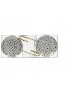 Gancio Appendino Hooks Ceramica Gold Piccolo - 2 Pz - KAM0223 - Schonherr - Oggettistica per Casa