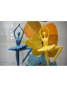 Ballerina Resina Giallo Alterego Home Design - DH4071 - Alterego Home Design - Oggettistica per Casa
