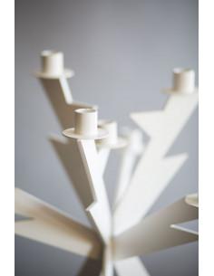 Candelabro Zeus Bianco - 0CA2966C26 - Arti e Mestieri - Candelieri e Lanterne
