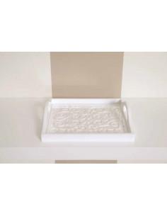 Vassoio Rettangolare Arabian Bianco Lucido cm. 45x30 I Dettagli - VASAR4530B - I Dettagli - Antipastiere e Vassoi