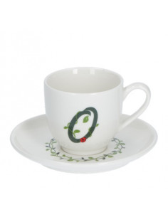 Solotua Tazza Caffe' C/P Lettera 'O' Cc 90 In Gift Box - P00370015O - La Porcellana Bianca - Tazze Caffe, Te e Latte