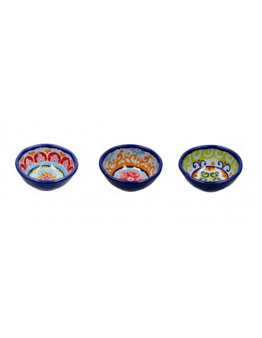 Nador Set 3 Coppette In Melammina Cm. 11.5 - R1330020MIX - Rose e Tulipani - Coppette gelato macedonia
