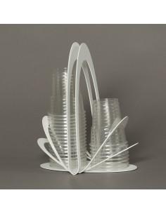 Porta Bicchieri Origami Bianco - 0VA3000C26 - Arti e Mestieri - Portabicchieri