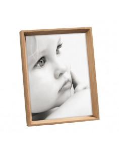 Portafoto in legno massello eco sostenibile colore rovere for Portaritratti legno