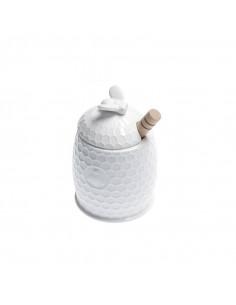 Aperegina Vasetto Miele C/Servimiele - P004001301 - La Porcellana Bianca - Barattoli e Biscottiere