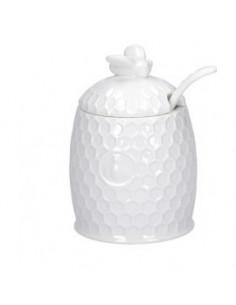 Aperegina Zucchriera C/Cucchiaino cm. 10x6,5 - P004001300 - La Porcellana Bianca - Zuccheriere