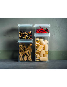 Barattolo S Kitchen Active Design Bianco - 16920011 - Guzzini - Barattoli e Biscottiere