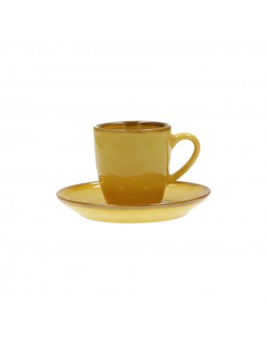 Concerto Ocra Tazza Caffè Con Piattino 90cc - R134300015 - Rose e Tulipani - Tazze Caffe, Te e Latte