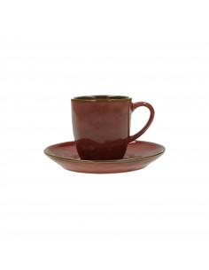 Concerto Rosso Malaga Tazza Caffè Con Piattino 90cc - R134500015 - Rose e Tulipani - Tazze Caffe, Te e Latte