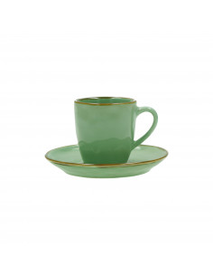 Concerto Verde Acqua Tazza Caffè Con Piattino 90cc - R134600015 - Rose e Tulipani - Tazze Caffe, Te e Latte