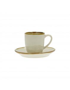 Concerto Avorio Tazza Caffè Con Piattino 90cc - R134000015 - Rose e Tulipani - Tazze Caffe, Te e Latte