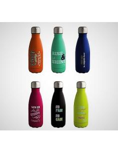 Bottiglietta Termica Con Chiusura Ermetica 350 ml Decori Assortiti Inox