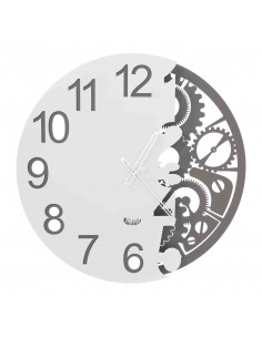 Orologio Full Meccano Ardesia Bianco - OR3275C56 - Arti e Mestieri - Orologi da parete