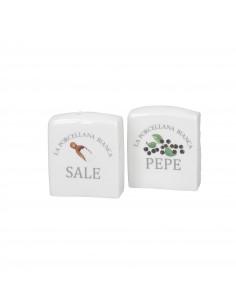 Conserva Set Sale e Pepe Deco Porcellana - P012600SPD - La Porcellana Bianca - Olio, Aceto, Sale e Pepe