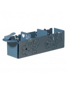 Porta Bustine Di Tè Floreale Fior Di Loto Azzurro - 0VA3337C160 - Arti e Mestieri - Caraffa, Teiere e Bollitori