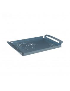 Vassoio Floreale Di Piccole Dimensioni Fior Di Loto Azzurro - 0VA3347C160 - Arti e Mestieri - Antipastiere e Vassoi