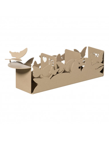 Porta Bustine Di Tè Con Farfalle Butterfly Beige  - 0VA3335C116  - Arti e Mestieri  - Caraffa, Teiere e Bollitori