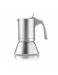 Caffettiera 3 Tazze Aroma Per Induzione Grigio Opaco - 10155133 - Guzzini - Caffettiere Moka