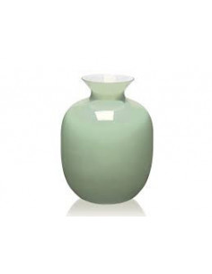 Rialto Vaso H.30 Cm. Incamiciato Verde Menta