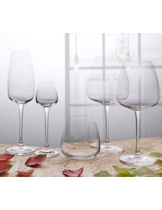 Anser Collection Set 6 Calici Vino Rosso In Cristallo Bohemia